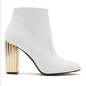 New white ankle boots